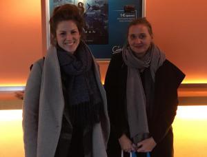 Filmpädagogin Claudia Ziegenfuß und Expertin Gabriele Rohmann vom Archiv der Jugendkulturen nach der Vorstellung von DAS IST UNSER LAND.