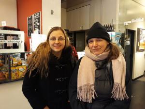Filmpädagogin Iris Präfke und Beatrice Babin, Co-Autorin und Cutterin von ELDORADO.