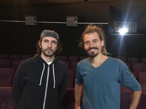 Produzent Nick Pastucha und Filmpädagoge Timo Kurt Kuhn nach dem Filmgespräch zu DAS SYSTEM MILCH.