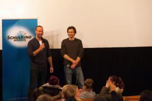 Regisseur Erik Schmitt und Schauspieler Jeremy Mockridge im Gespräch zum Film CLEO im Central.
