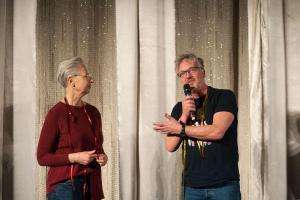 Drebuchautorin Beate Völcker und Regisseur Matthias Bruhn von FRITZI - EINE WENDEWUNDERGESCHICHTE bei der Eröffnung der SchulKinoWochen Berlin 2019!