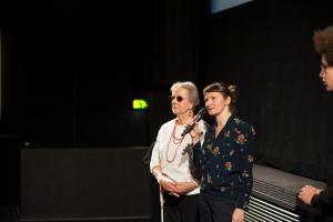 Roswitha Röding und Anke Nicolai bei der Veranstaltung FILME SEHEN - FILME HÖREN im CineStar Original im Sony Center.