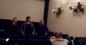 Filmgespräch zu LENALOVE mit Sina Tktosch (Schauspielerin, links) und Tatjana Bonnet (Produzentin, Mitte)